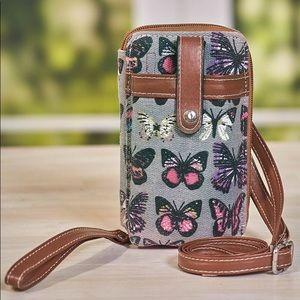 Canvas  Crossbody butterfly 🦋 wallet